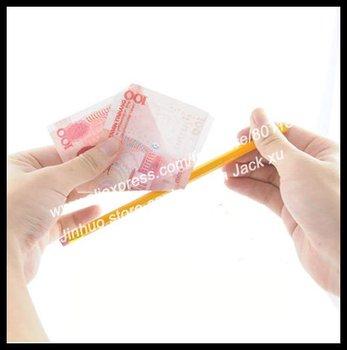 Free shipping,Pencil Thru Money magic tricks,100pcs/lot,for magic show wholesale