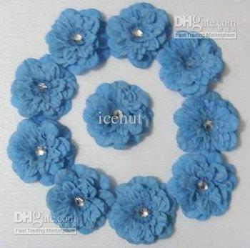 50 pcs sghe53465 peony flower baby bows Children's Hair clip girl flowers barrettes hair flower