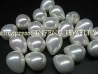 AAA wholesale half drilled 12mm drop Sea Shell Pearl loose beads free shipping