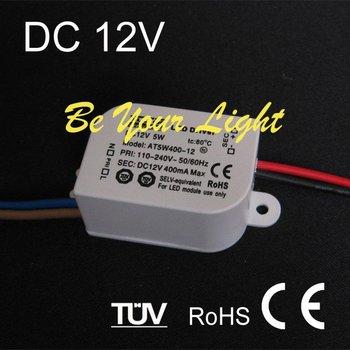 LED Driver DC 12V 400mA 5W, Transformer, CE RoHS