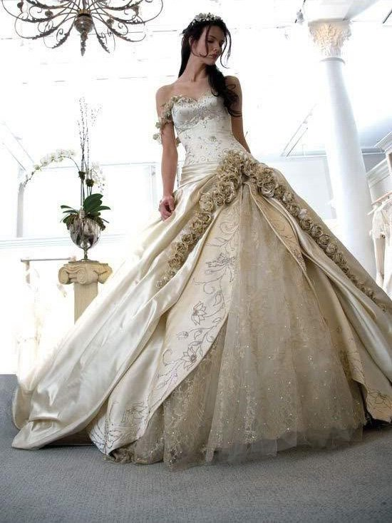 Free shipping hot-saleBall Gown one should Taffeta wedding dress WD0031(China (Mainland))
