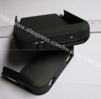 2000mAh Portable Backup External Battery Charger Case specially designed For iPhone 4 Free Shipping