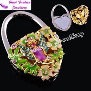 free shipping handbag hook,fashion handbag hanger,folding handbag holder,wholesale handbag hook with mirror (MOQ:1 piece)