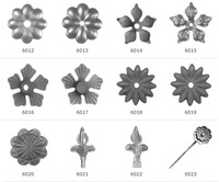 Wrought iron and cast iorn flowers