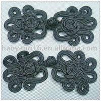Handmade black chinese knot button 10pcs/lot  Free shipping
