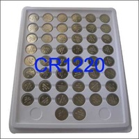 Free shipping wholesale 50 x CR1220 DL1220 ECR1220 Lithium 3v Button Cell Battery