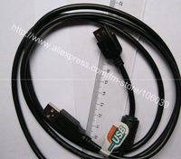wholesale 1.5m  usb 2.0 extension cable  2.0 A male to USB 2.0 B female black  freeshipping