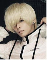 Men short hair/Beige Men Handsome Cosplay Party Hair wigs/fashion boy kanekalon wig/3 colors