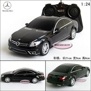 1/24 Radio control toys,battery power rc car toy, Benz CL63 AMG black rc model car(China (Mainland))