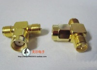 T Connector Plug Adapter SMA Male to Dual SMA Female antenna connector