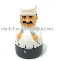 Free Shipping Chef shaped kitchen timer/ timer clock 10pcs/lot wholesale