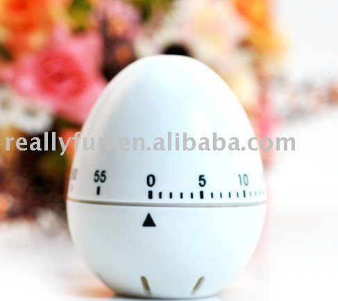 Free Shipping egg shaped kitchen timer/ timer clock/kitchen helper 10pcs/lot wholesale(China (Mainland))
