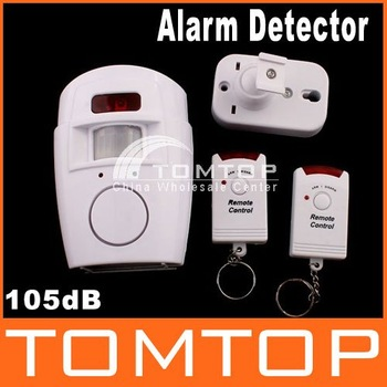 IR Wireless Sensor Detector Alarm With 2 Remote Control, 5pcs/lot, freeshipping,dropshipping