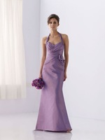Wholesale free shipping customize size taffeta bridesmaid dress