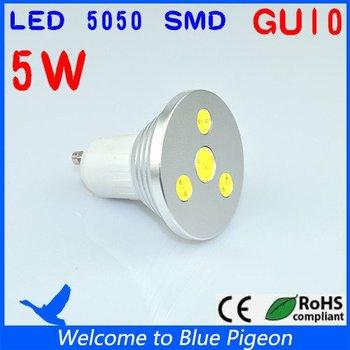 LED Lighting GU10 Cool White/Warm white 5W 86-265V  /180 degrees/Led spot light High Power Free Shipping