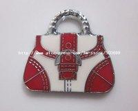 B10 Free Shipping 100pcs zinc alloy enamel Red bag charms pendant enamel charms 24*23mm