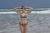 2011 new style 10sets/lot Stripe Sexy Bikini Fashion Cute Swimwear Free shipping