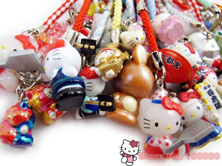 Hotsale+Hello Kitty Mobile Strap/okay Tina/Furnishing articles figures/Cartoon/Free shipping(China (Mainland))
