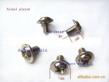 M3*5*500PCS mainboard screw,computor screw(BOLT),cross with washer round head machine screw
