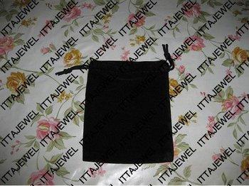 wholesale 8*10cm organza pouch,organza bag,velvet bag jewelry bag ,gift bag,100pcs black  Free shipping