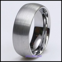 8MM Solid Dome Brushed Tungsten Mens Ring Wedding Band SIZE 8# 9# 10# 11# 12# GIFT BOX