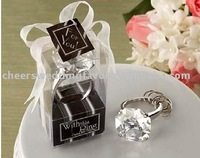 Free shipping to USA Canada, 100/lot wedding gift of crystal diamond key ring, Wholesale and retail