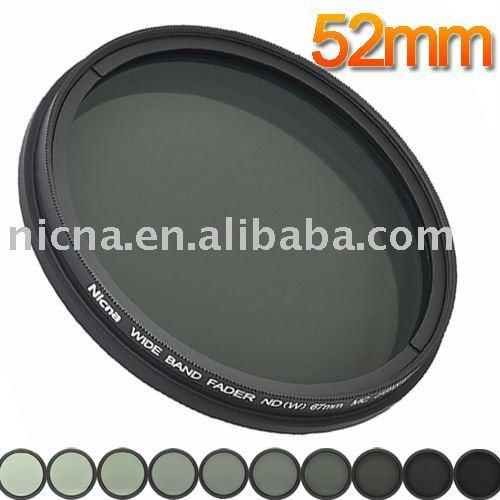 Nicna nd fader filtro ajustable a partir de nd2 a nd400 nd2-nd400 pro mc multi- recubierto lente de filtro 52mm