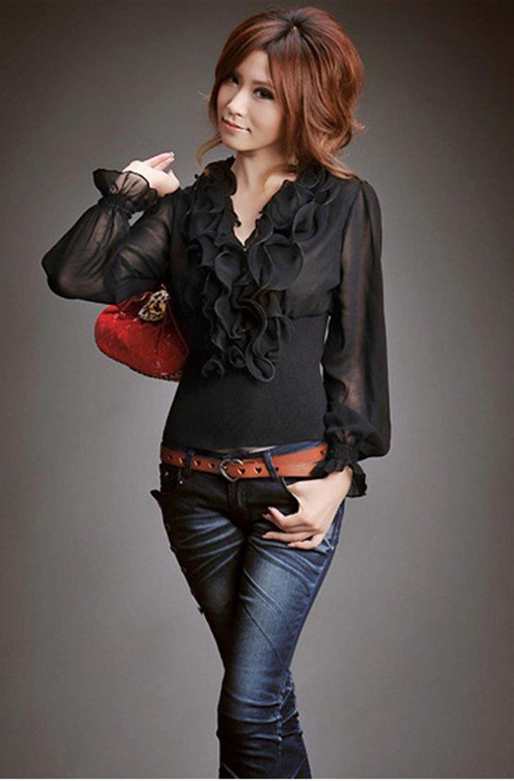 Черная Блузка Из Шифона