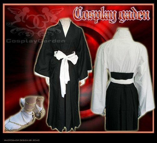 Wholesale Free Shipping Hot Selling Cheap New Cosplay Costume C0201 Bleach Shinigami(China (Mainland))