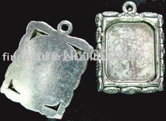 60Pcs Tibetan silver Cabochon Settings Pendant Trays leaf rim picture frame A691(China (Mainland))