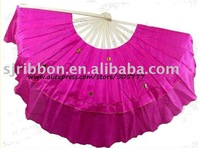Belly Dance Fan Veil /Belly Dance chiffon fan veil 4 color choose/belly dance fan veil,free shipping Wholesale,20pcs/lot