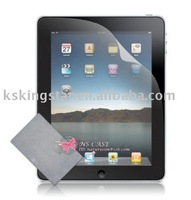 free shipping for apple ipad 2 screen protector with Cleaning Cloth