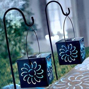 High Quality Solar Light Solar Garden Light Solar Color Change Storm Lantern 2pcs