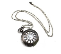 Free shipping ,Minimum quantity 1 piece,Retro simple line of hollow pocket watch