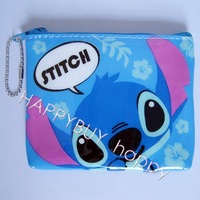Free Shipping Cartoon 1pcs Lilo & Stitch Blinking Glittery Coin Purses Charge Bag Case Wholesale Dropship