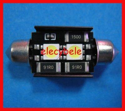 Wholesale EMS/DHL Free DC 12V 10x36mm 2SMD 5050 LED Car Auto Light Bulbs LED License Plate Light LED Festo ...