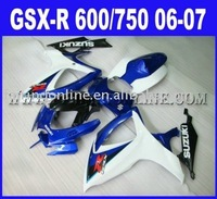 EMS Free  High quality ABS Motorcycle Fairings For Suzuki GSX-R 600 / 750 K6 2006 2007(free windscreen)