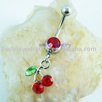Red Cherry Style belly button ring JFB-2643