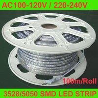AC100-120V/220-240V input 3528 60LEDs/m SMD LED strip;IP68