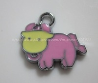 Free Shipping 100Pcs/Lots Zinc Alloy Metal sheep  Enamel ' HOLLO KITTY 'Charms Pendants