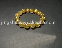 wholesale  natural crystal bracelet/Titanium crystal