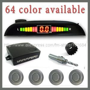 15sets/lot 4 Calx Gray Sensor Car LED Display Parking Reversing Radar Detector [CP169](China (Mainland))