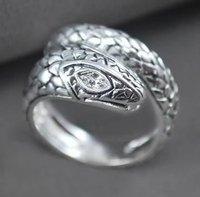 Free ship fee 925 sterling silver snake finger ring US standards size 8  SR02