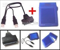 Hard disk Box USB2.0 to External 2.5 SATA Hard Drive HD Cable Adapter w/ 2.5