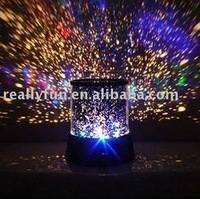 Hot Sale LED star beauty Creative Star Projection Lamp/ Night Light Dream projector lamp/ romatic Creative Glow Lamp/star master