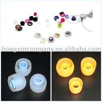 MOQ1000pcs Silicone ear bud colorful ear buds for earphone