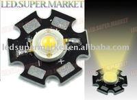 Guaranteed100% 50pcs 3W Warm White LED Lamp Prolight Star 90Lm High Power+Free shipping