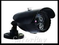 by ems free shipping ,color ccd bullet camera , mental black housing,80 meters long distance