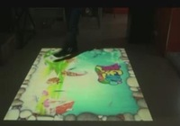 FREE SHIPPING interactive floor projector system with kids game effects