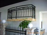 European classic balcony guardrail/wrought zinc steel balcony guardrail